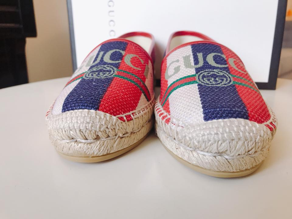 75e800d38 Gucci Princetown Espadrilles Mule Red White Green Blue Flats Image 11.  123456789101112