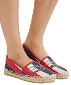 Gucci Princetown Espadrilles Mule Red White Green Blue Flats