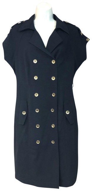 Item - Navy Double Breasted Short Work/Office Dress Size 12 (L)
