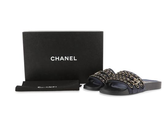 Chanel Blue Mules Image 11