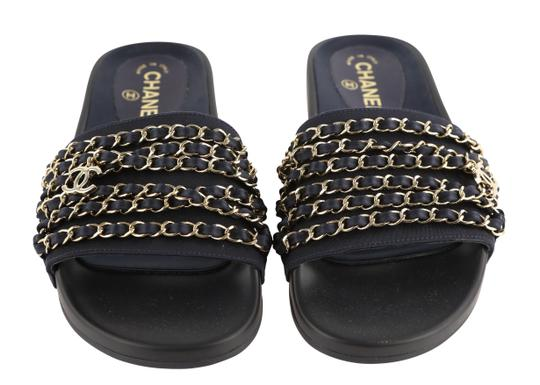 Chanel Blue Mules Image 2