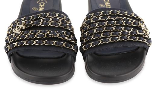 Chanel Blue Mules Image 6