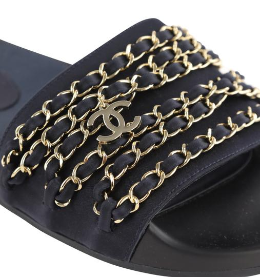 Chanel Blue Mules Image 8