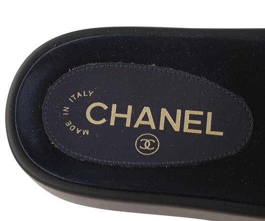 Chanel Blue Mules Image 9