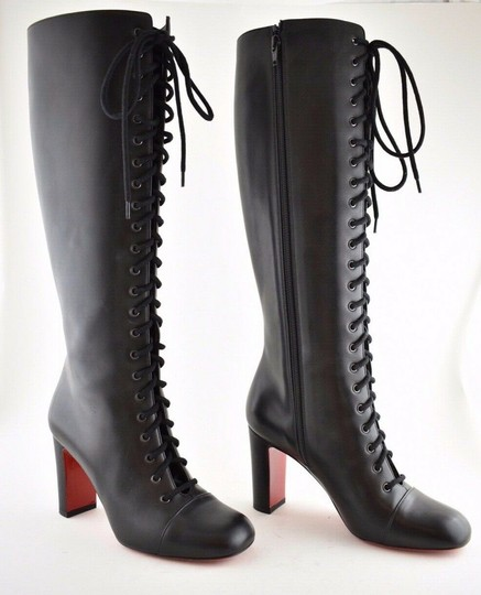 Joie Gryffin Lace-up Knee High Leather Boots/Booties Size