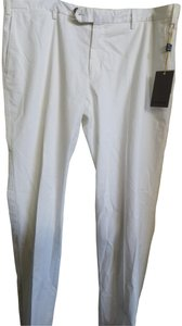 Canali Straight Pants White