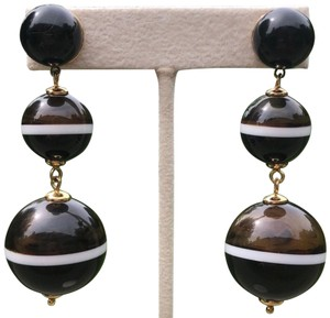 Kate Spade Triple Ball Drop Earrings/ Brown