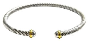 David Yurman GORGEOUS!! LIKE NEW!! David Yurman 18 Karat Yellow Gold and Sterling Silver Cable Classic 4mm Bracelet Cuff