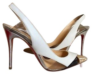 Christian Louboutin Multi White, Nude, Silver, Black Pumps
