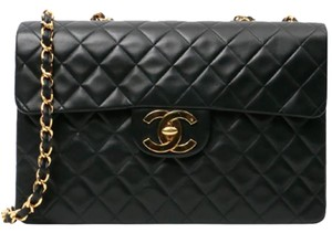 Chanel Vintage Lambskin Jumbo Maxi Shoulder Bag