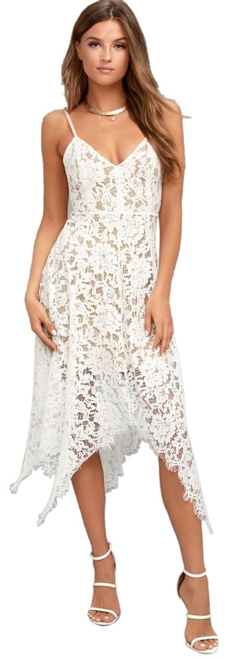 Lulus White One Wish Lace Midi Formal Dress Size 4 S 38 Off Retail