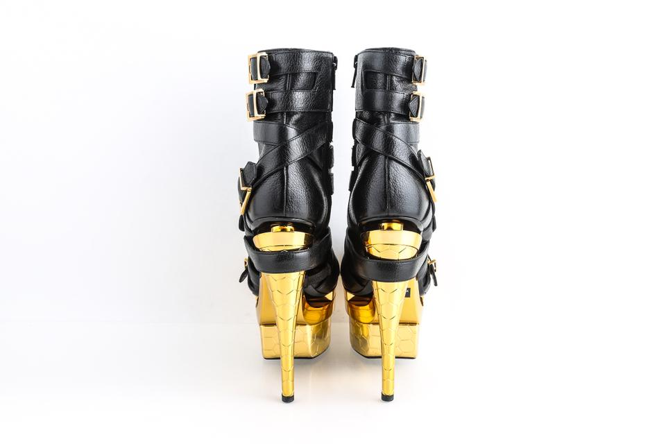 31cb6c04 Versace Black Bondage Triple Leather Ankle Platform Boots/Booties Size US  7.5 Regular (M, B) 42% off retail