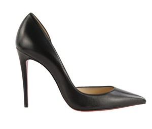 Christian Louboutin Pigalle Follies Stiletto Glitter Classic Black Pumps
