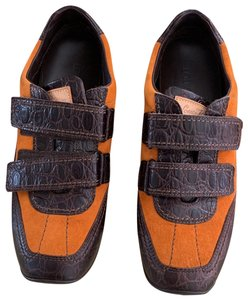 Louis Vuitton Orange with brown Crocodile leather Athletic