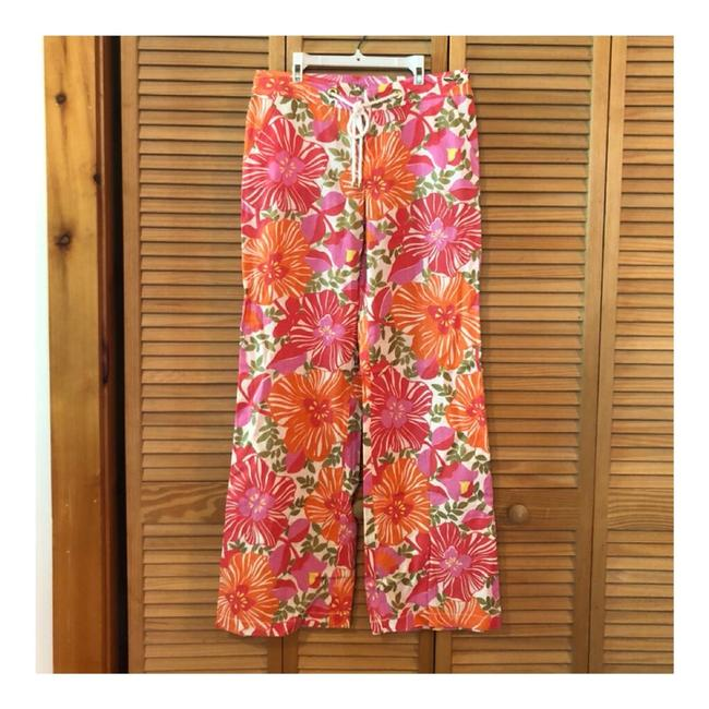 Item - Orange Pink Floral Print Palm Beach Pants Size 6 (S, 28)