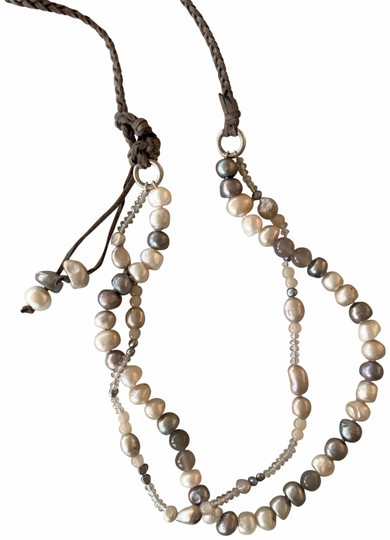 Preload https://img-static.tradesy.com/item/25610728/silver-gray-grey-white-cream-12-mm-faux-pearl-black-tule-indiv-knotted-40-necklace-0-5-540-540.jpg