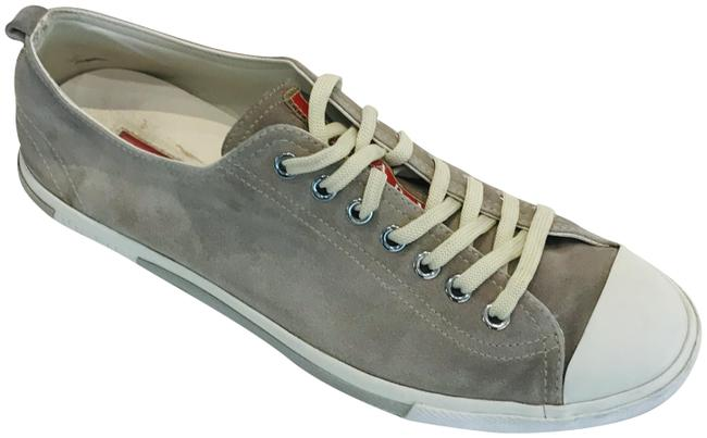 Item - Grey Men Suede Low Top Sneakers Size US 7 Regular (M, B)