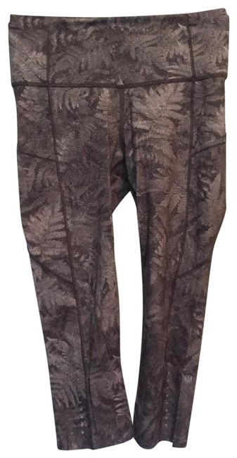 Item - Gray Floral Tights Activewear Bottoms Size 6 (S)