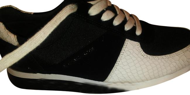 Item - Black and White Snake Skin By Sneakers Size US 7 Regular (M, B)