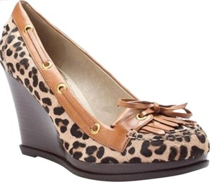 Sperry Leopard print Wedges