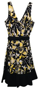 Nine West short dress Black, yellow and white on Tradesy