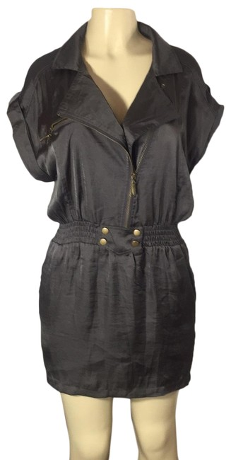 Item - Charcoal Sexy Short Casual Dress Size 12 (L)