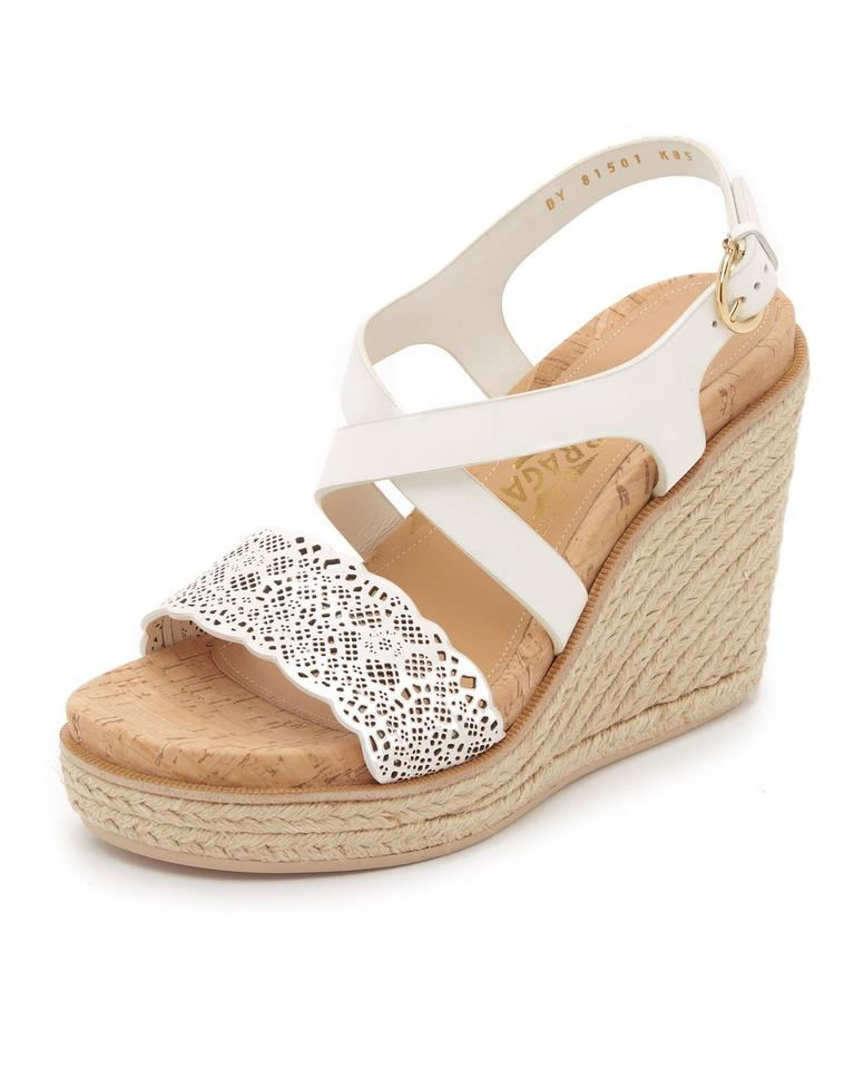 7b0211462 Salvatore Ferragamo White Playform Wedge Gioela Ivory Sandals Image 0 ...