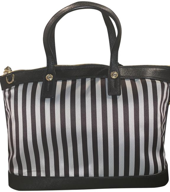 Item - Iconic West 57th Centennial Striped Brown and White Leather Satchel