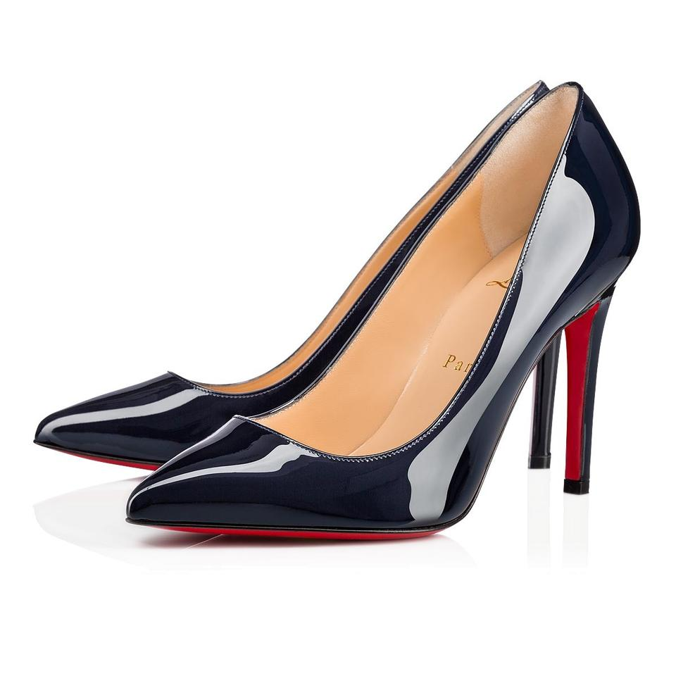 en soldes 805f4 f9633 Christian Louboutin Marine Blue Pigalle Vernis 100mm Patent Leather Pumps  Size EU 39 (Approx. US 9) Regular (M, B) 14% off retail