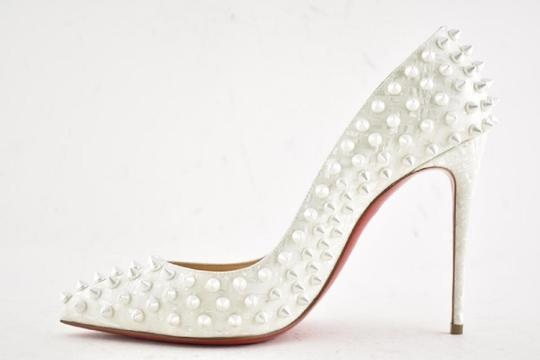 Christian Louboutin Pigalle Pigalle Follies Pigalle White German Pearl Pumps Image 10