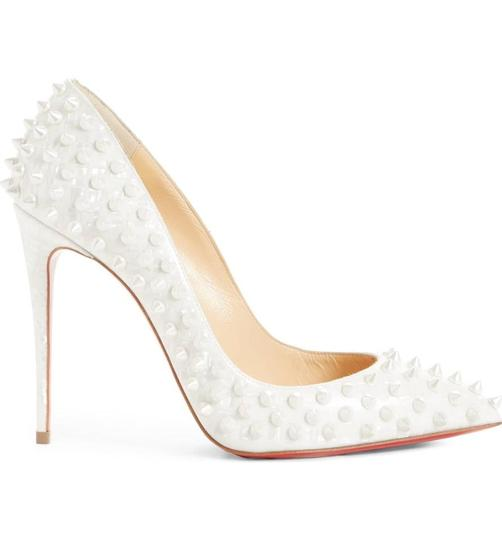 Christian Louboutin Pigalle Pigalle Follies Pigalle White German Pearl Pumps Image 2