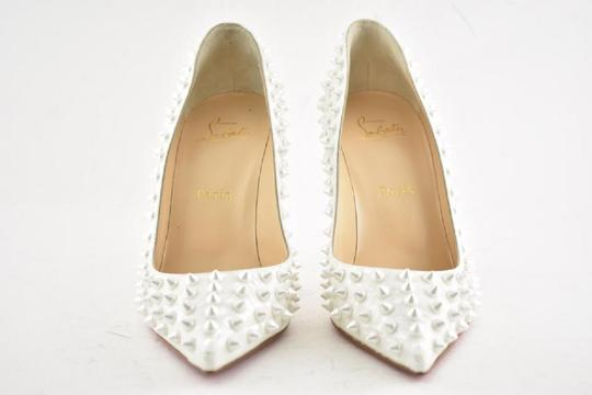 Christian Louboutin Pigalle Pigalle Follies Pigalle White German Pearl Pumps Image 3