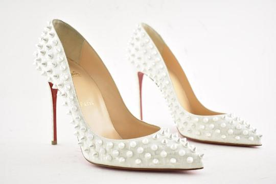 Christian Louboutin Pigalle Pigalle Follies Pigalle White German Pearl Pumps Image 4