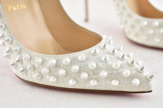 Christian Louboutin Pigalle Pigalle Follies Pigalle White German Pearl Pumps Image 5