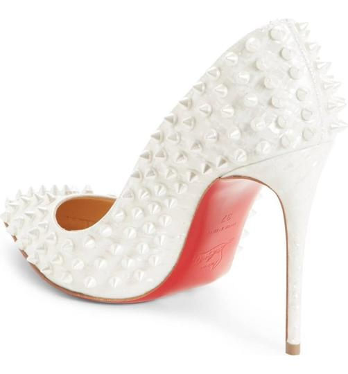 Christian Louboutin Pigalle Pigalle Follies Pigalle White German Pearl Pumps Image 6