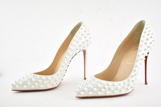 Christian Louboutin Pigalle Pigalle Follies Pigalle White German Pearl Pumps Image 8