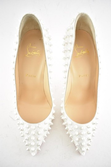 Christian Louboutin Pigalle Pigalle Follies Pigalle White German Pearl Pumps Image 9
