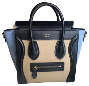 Céline Tote in Blue Black Tan