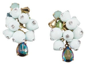 J.Crew NEW Pop Crystal Frosted Mint Blue Earrings