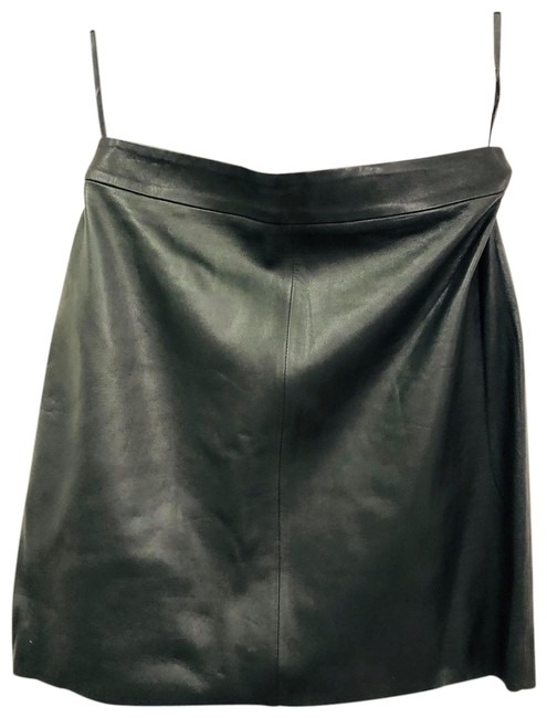 Item - Green Leather Skirt Size Petite 2 (XS)