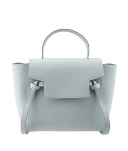 Céline Leather Tote in Blue
