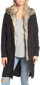 BB Dakota Faux Winter Vest Hooded Soft Fur Coat