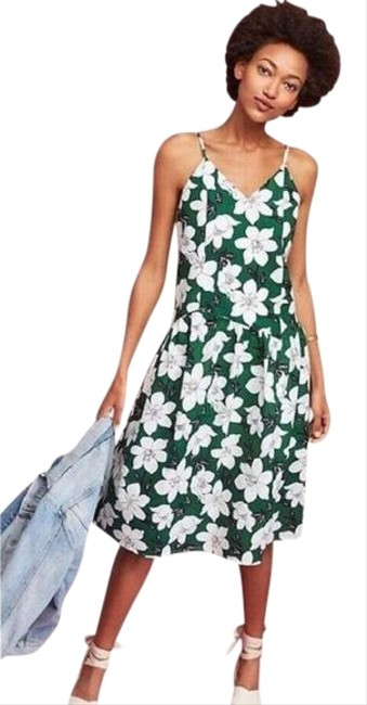 Item - Green J.o.a Cotton Mid-length Short Casual Dress Size 2 (XS)