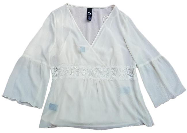 Item - Cream Work To Weekend Blouse Size 16 (XL, Plus 0x)