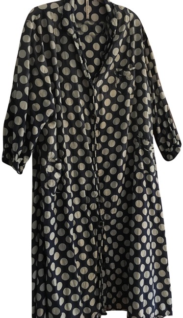 Item - Blue and White Polka Dot Mid-length Casual Maxi Dress Size OS (one size)