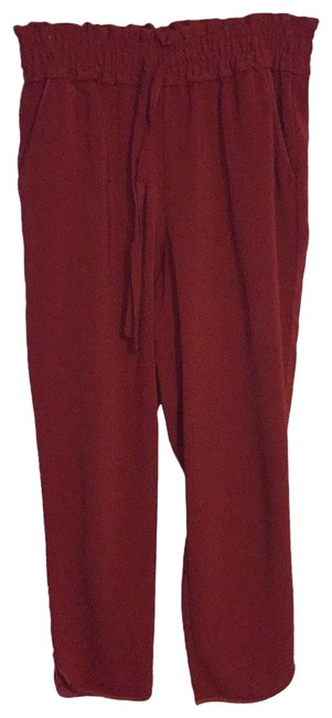 Item - Rust Orange Cinch Elastic Waist Drawstring Jogger Pants Size 6 (S, 28)