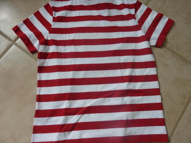 Burberry Logo Striped Casual T Shirt Red/White Image 5
