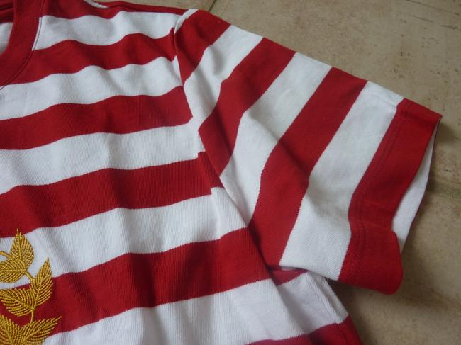Burberry Logo Striped Casual T Shirt Red/White Image 8