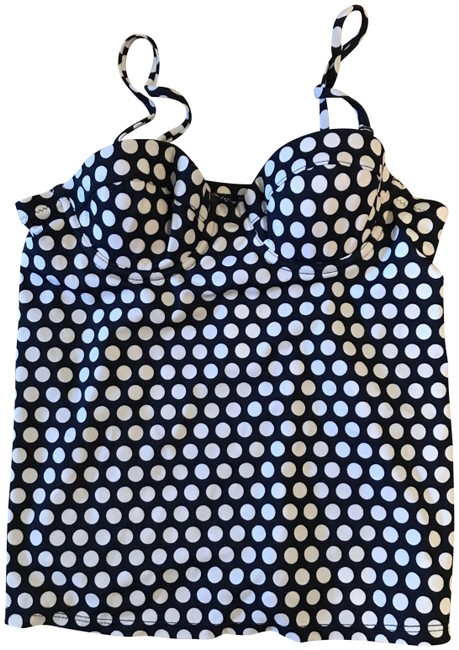 Item - Navy White Graphic Dot Underwire Swing Top 24861 Tankini Size 0 (XS)