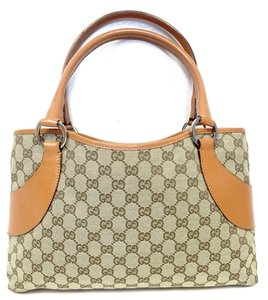 Gucci Handbag Canvas Leather Totebag Shoulder Bag